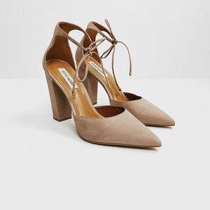 Steve Madden Suede Pointed Toe Lace Heels